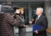Nagy Miklós NIIFI igazgató interjút ad a DE televíziónak